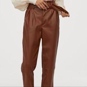 H&M SZ18 Faux Leather Pants